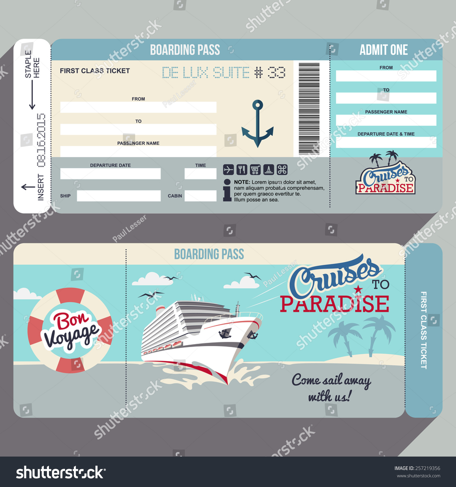 Royaltyfree Cruises To Paradise Cruise Ship Stock - How much is a cruise ship ticket