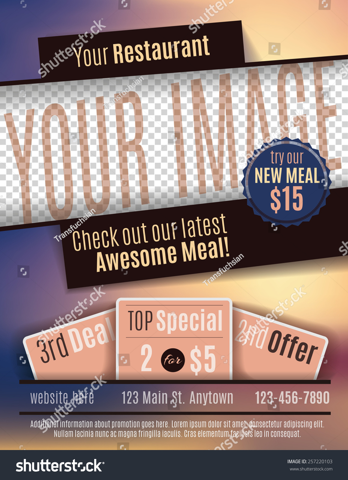 doc restaurant coupon template coupon templates vector flyer template design for restaurant coupon space for restaurant coupon template