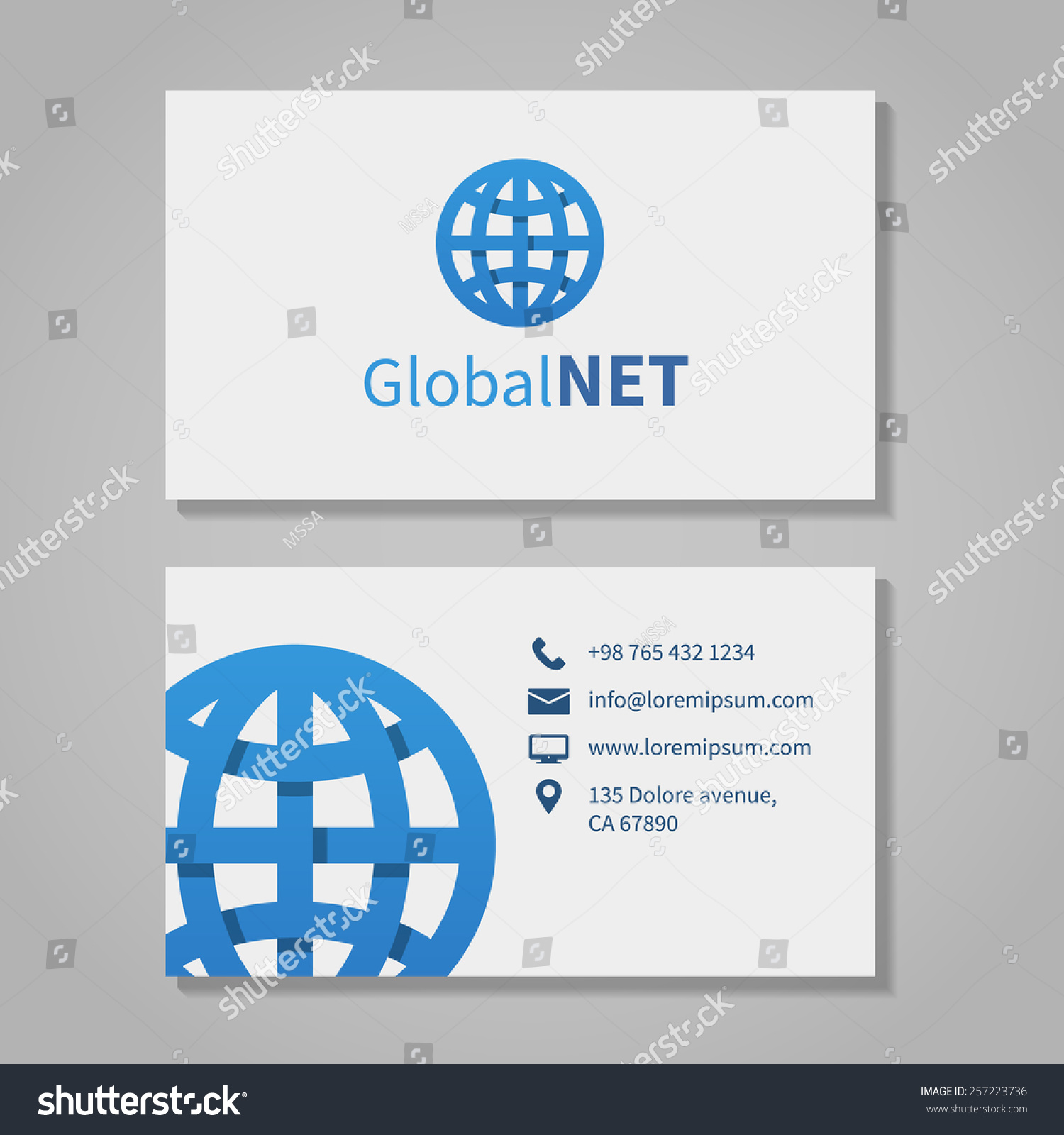 Global Corporation Business Card Phone Number Stock Vector ...