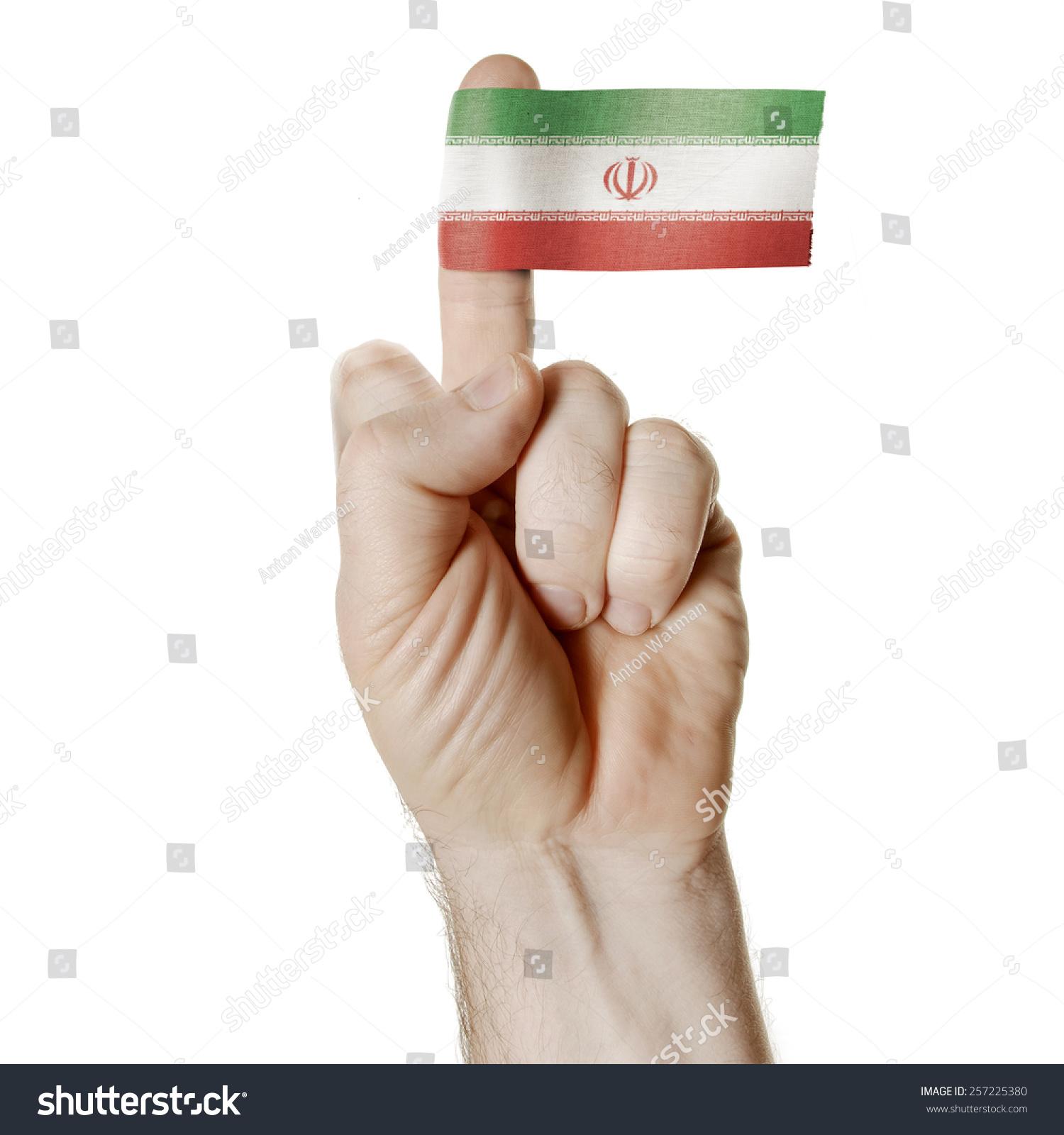 Symbol challenge middle finger flag iran stock photo 257225380 a symbol of challenge the middle finger with the flag of iran buycottarizona