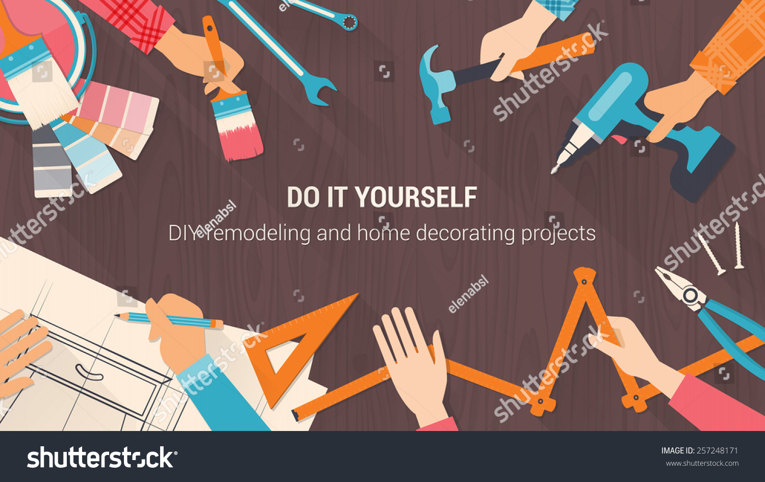 Diy banner people working together using stock vector 257248171 diy banner people working together using stock vector 257248171 shutterstock solutioingenieria Image collections