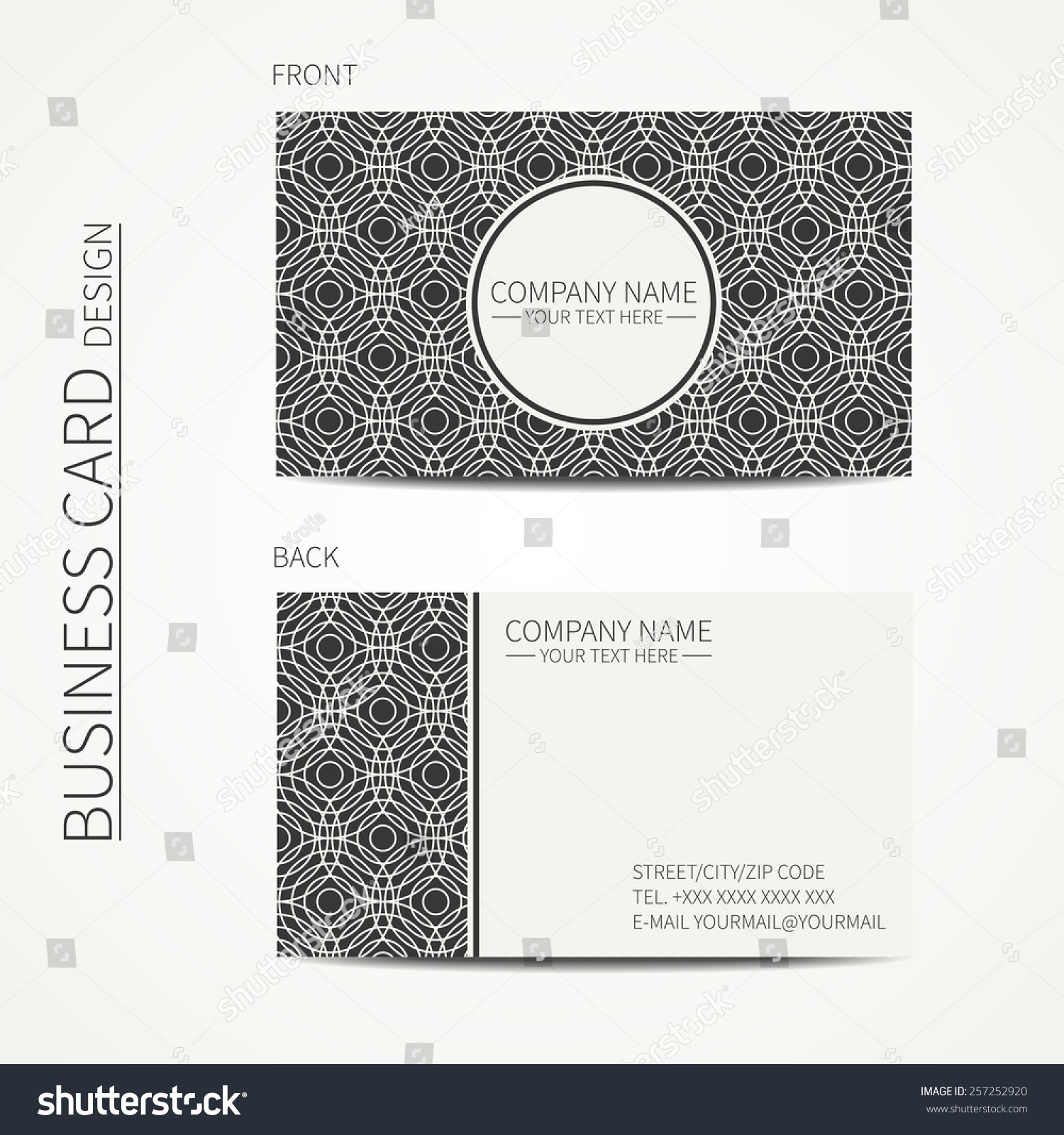 line card template download