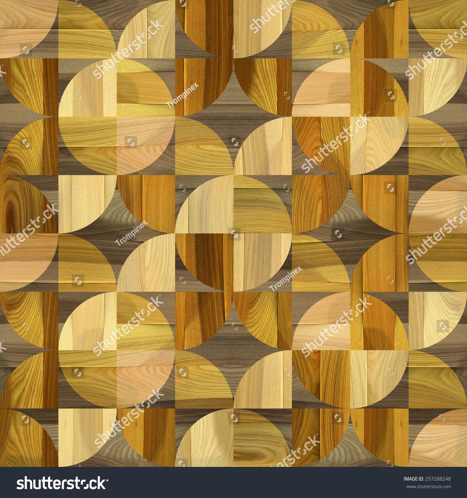 Abstract Paneling Pattern Interior Wall Decor Stock Illustration ...