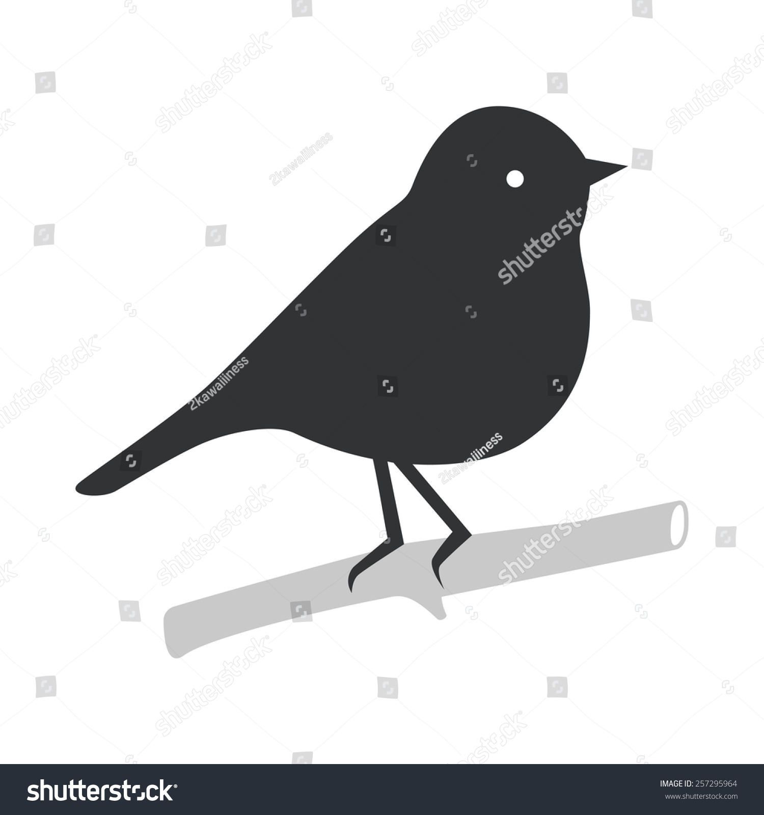 Sitting Bird Vector