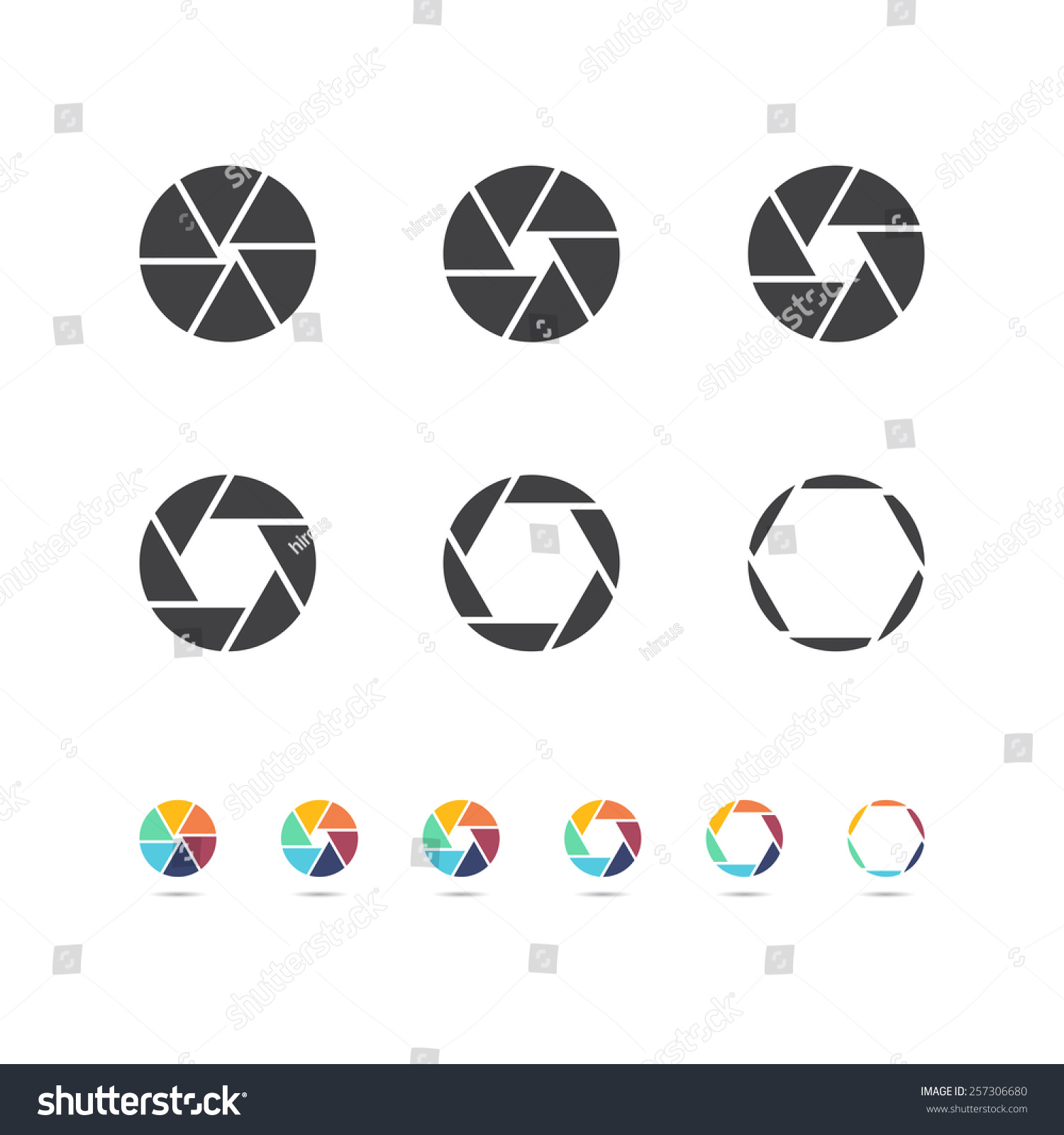 Camera Focus Objective Icon Stock Vector 257306680 - Shutterstock