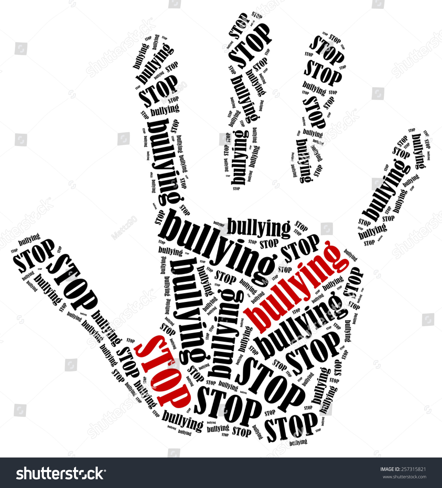 ... In Shape Of Hand Print Showing Protest. - 257315821 : Shutterstock