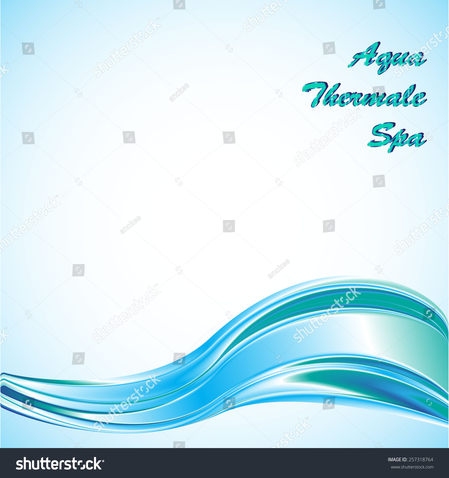 Vector background banner blue ocean wave stock vector 257318764 vector background or banner with a blue ocean wave great as a business template for pronofoot35fo Choice Image