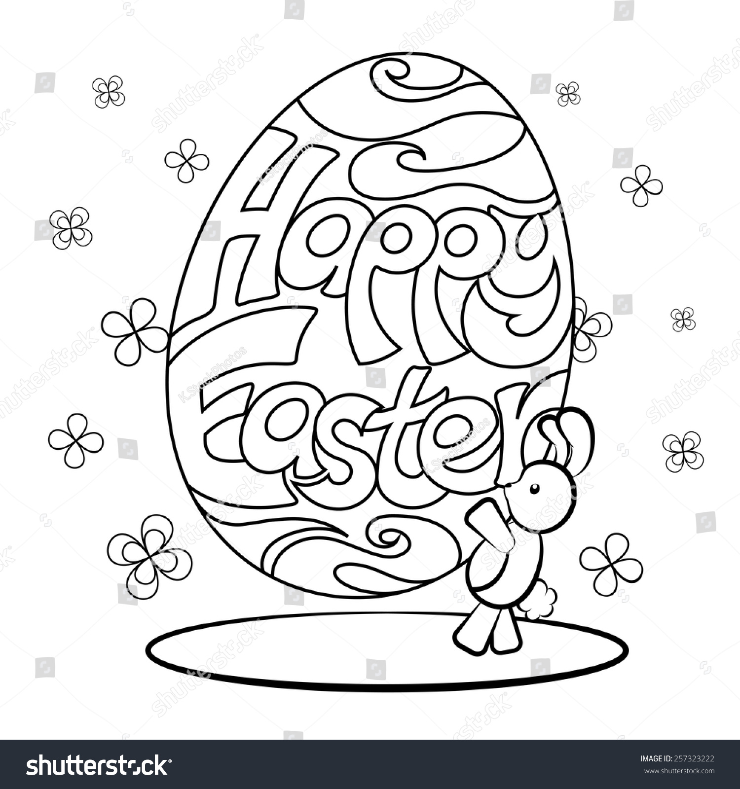 Giant Easter Egg Online Coloring Page