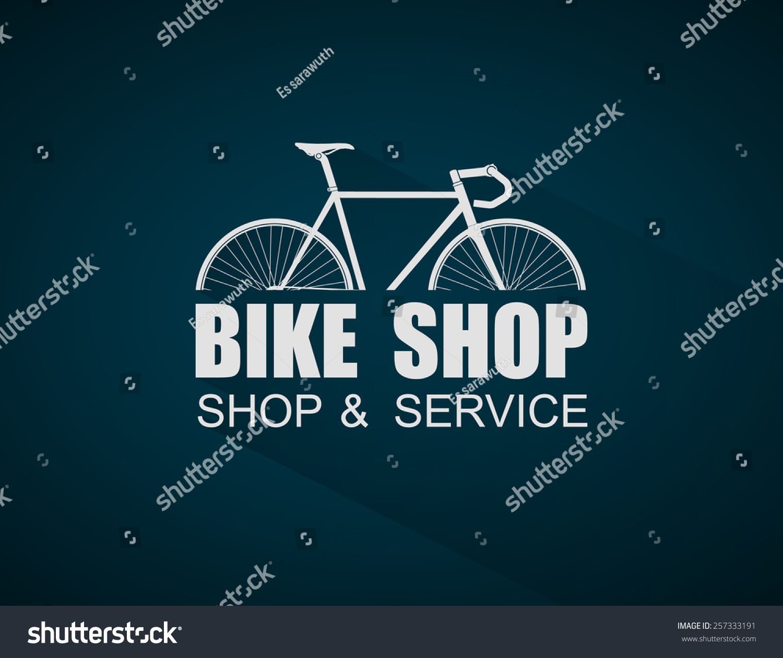 bike shop logo templatevector stock vector 257333191 shutterstock. Black Bedroom Furniture Sets. Home Design Ideas