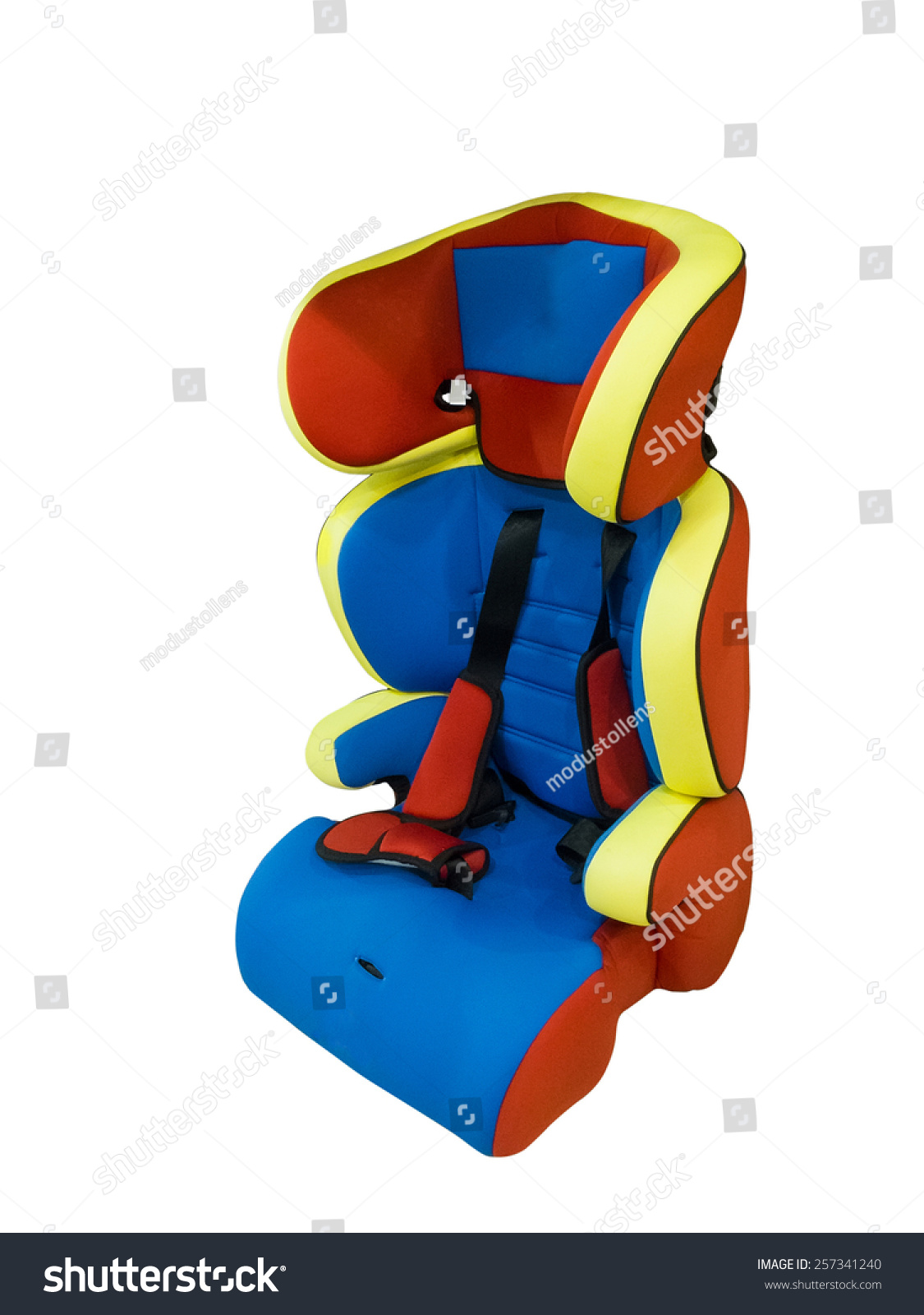 Baby Car Seat Isolated On White Stock Photo 257341240