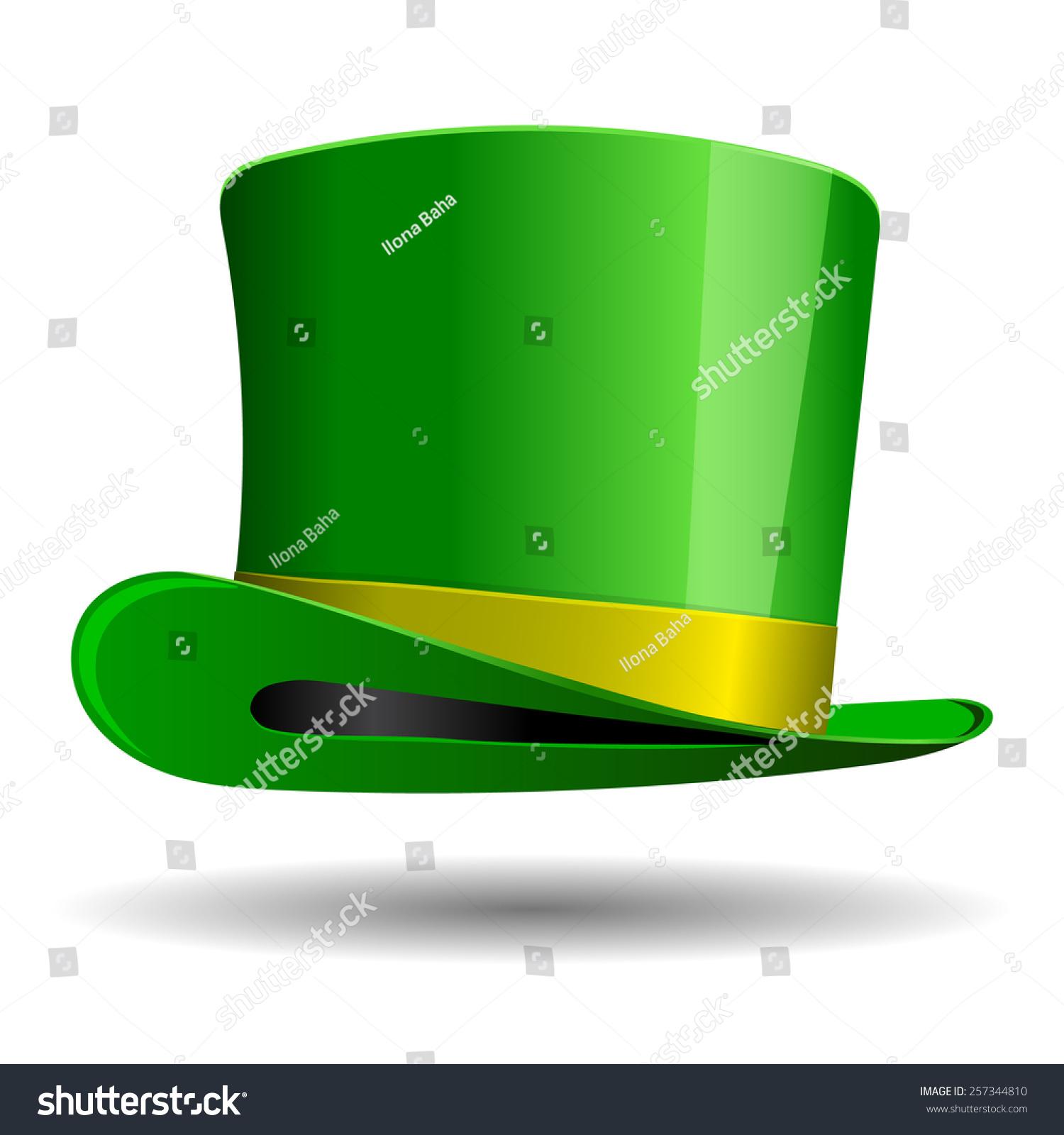 green st patrick day hat vector stock vector 257344810 shutterstock