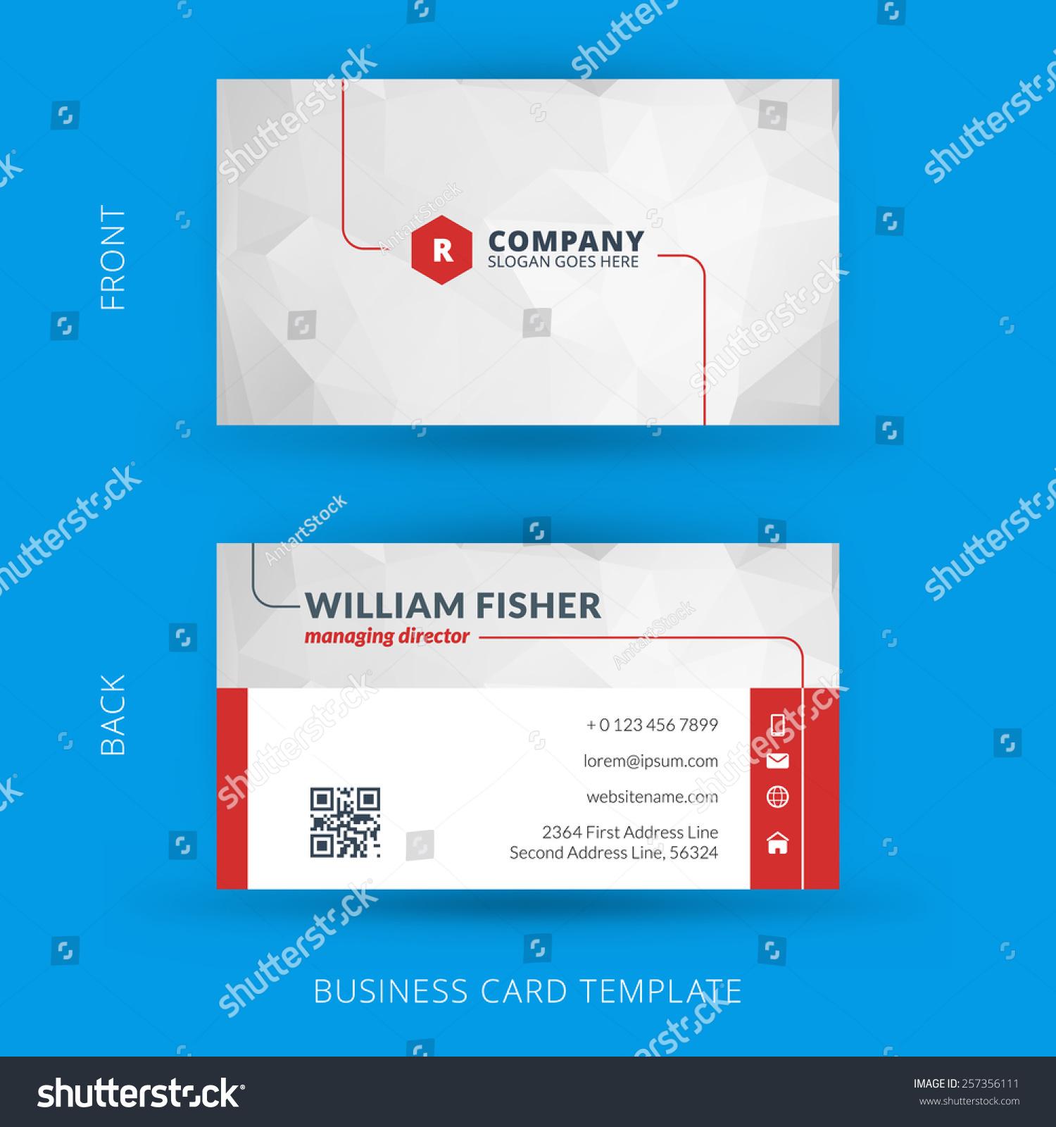 vector modern creative clean business card stock vector