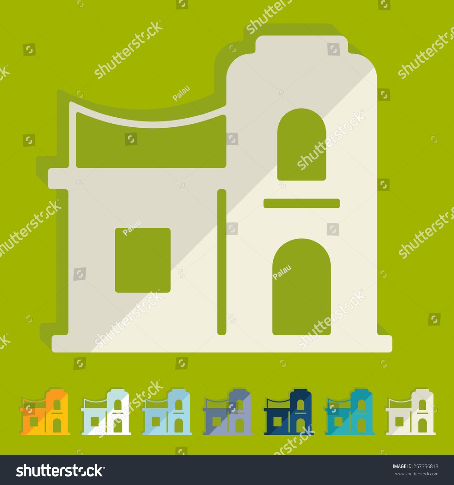 Flat Design Arabic House Stock Illustration 257356813 Shutterstock. Flat Design Arabic House. Wiring. A Diagram Of A House Arabic At Scoala.co