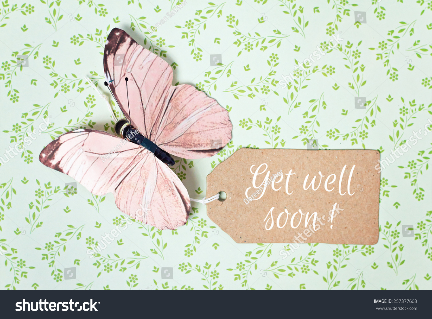 Lovely Greeting Card Get Well Soon Stock Photo Royalty Free