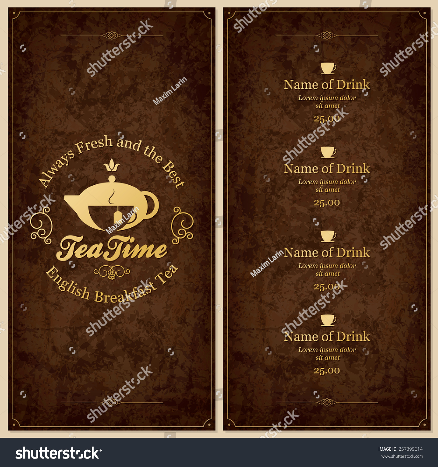 restaurant coffee house menu design vector stock vector 257399614 restaurant or coffee house menu design vector brochure template for cafe coffee house
