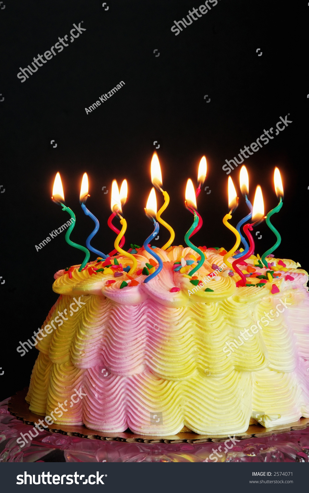 Fabulous Lighted Birthday Cake Lighted Candles On Stock Photo Edit Now Funny Birthday Cards Online Inifodamsfinfo