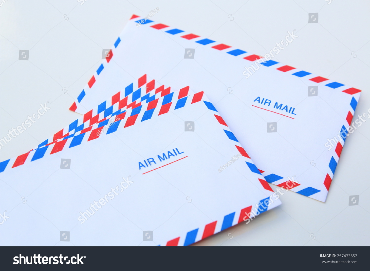 air mail letter envelope isolated on stock photo (edit now