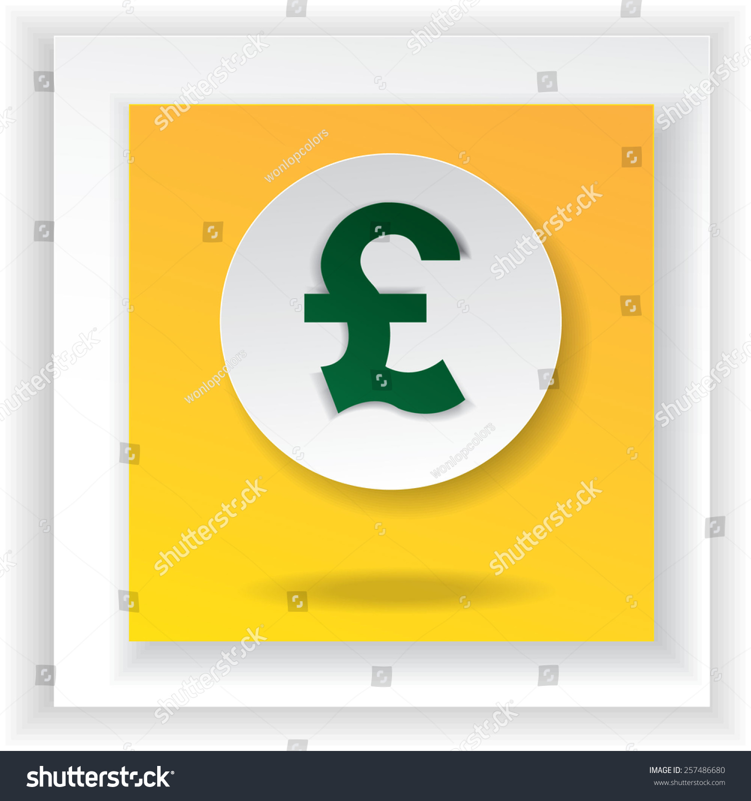 British Uk Pounds Currency Symbol Illustration Stock Vector 2018