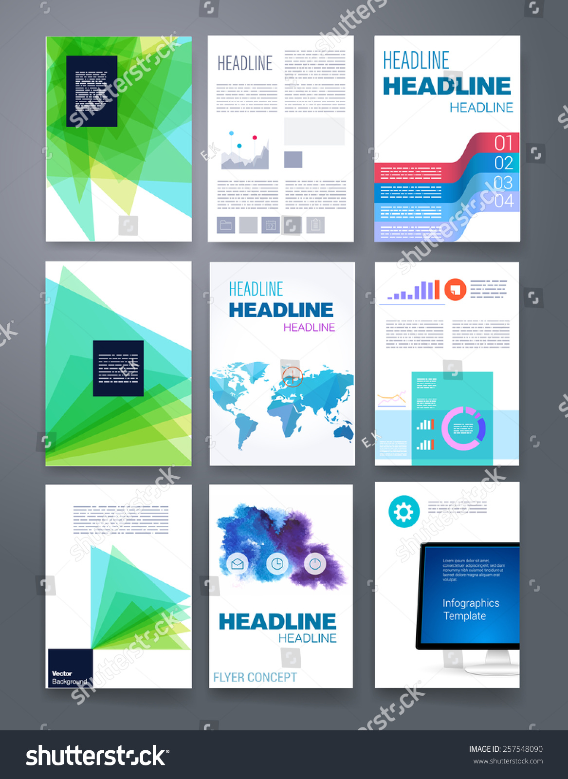 Vector Flyer, Brochure, Magazine Cover Template Can Use For Print And  Marketing