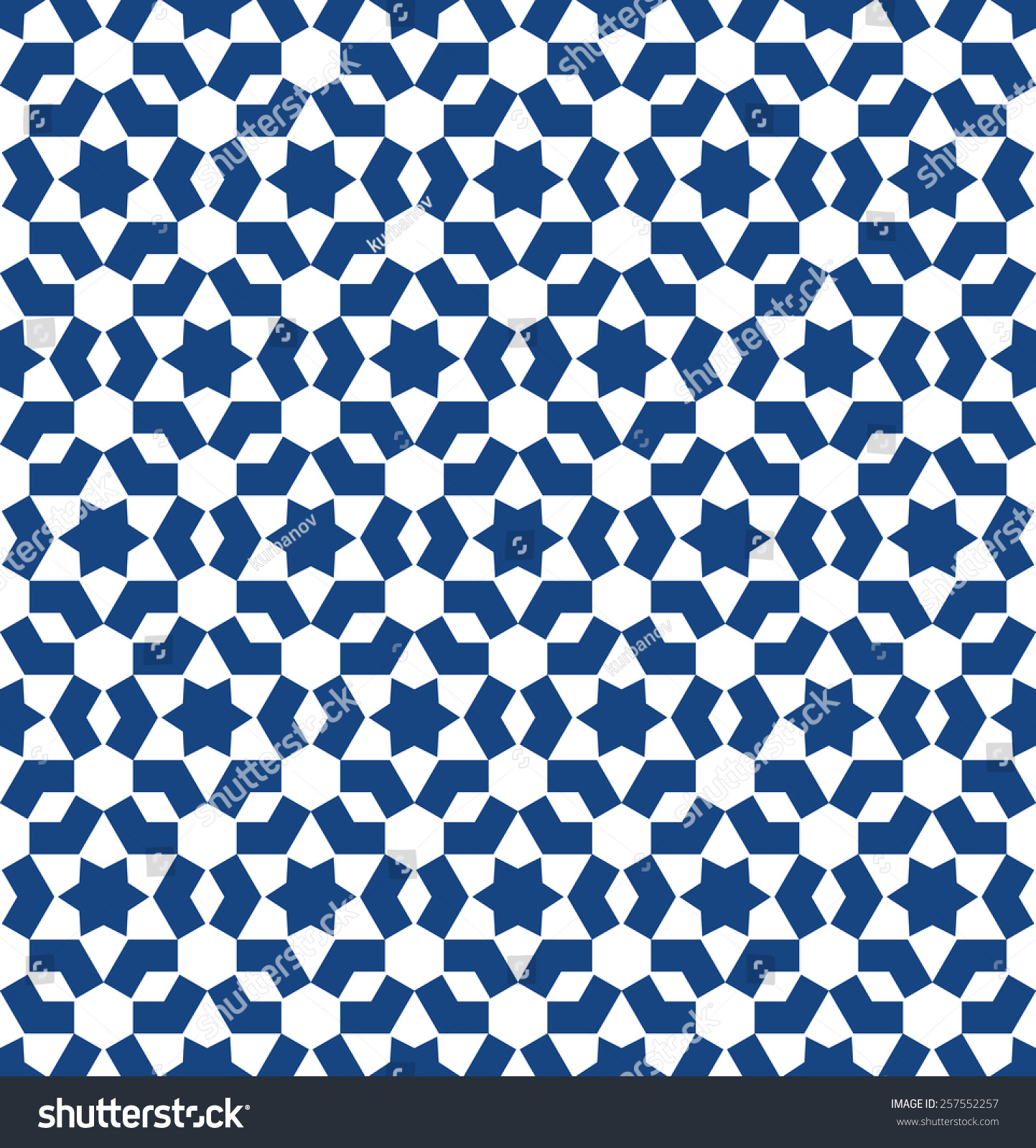 Moroccan Style Mosaic Ornament Seamless Mosaic Stock Vector ...