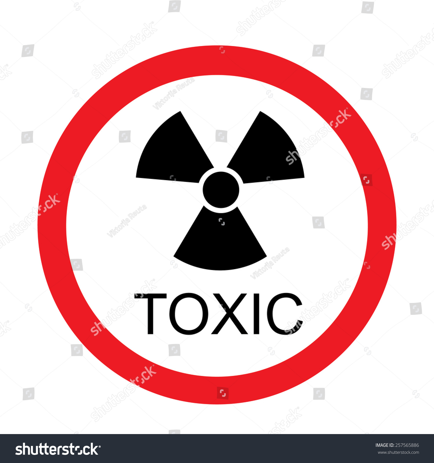 Round Toxic Sign Vector Isolated Toxic Stock Vector Royalty Free