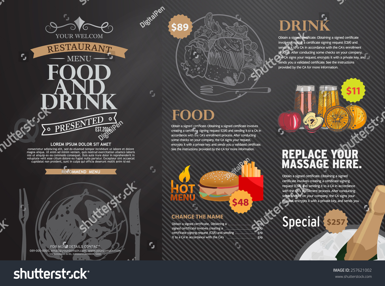 Restaurant Menu Design Stock Vector 257621002 Shutterstock