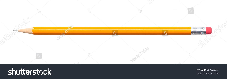 Amazing isolated pencil on pure white background #257628367
