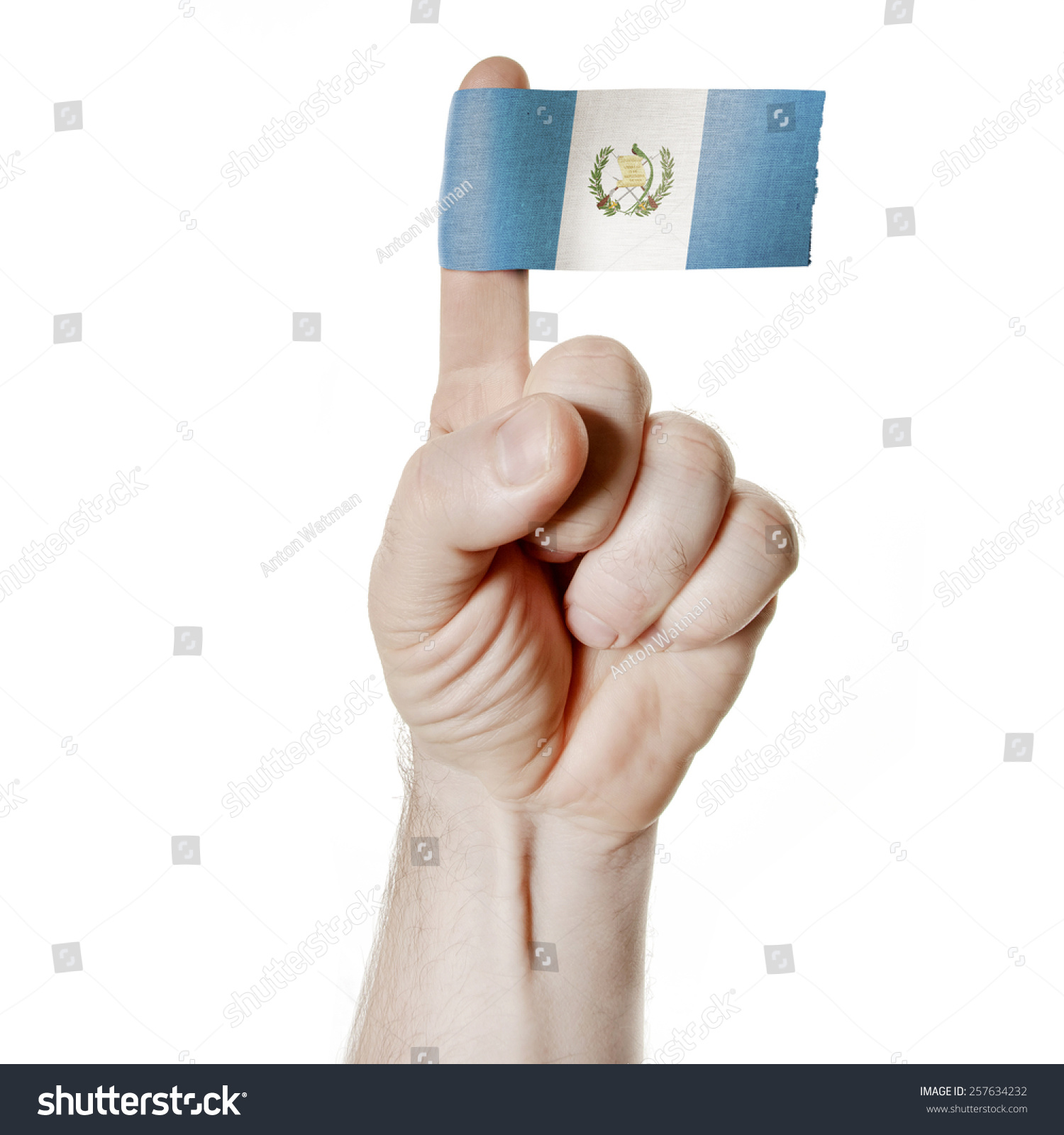 National Symbol Hand Index Finger Flag Stock Photo Edit Now