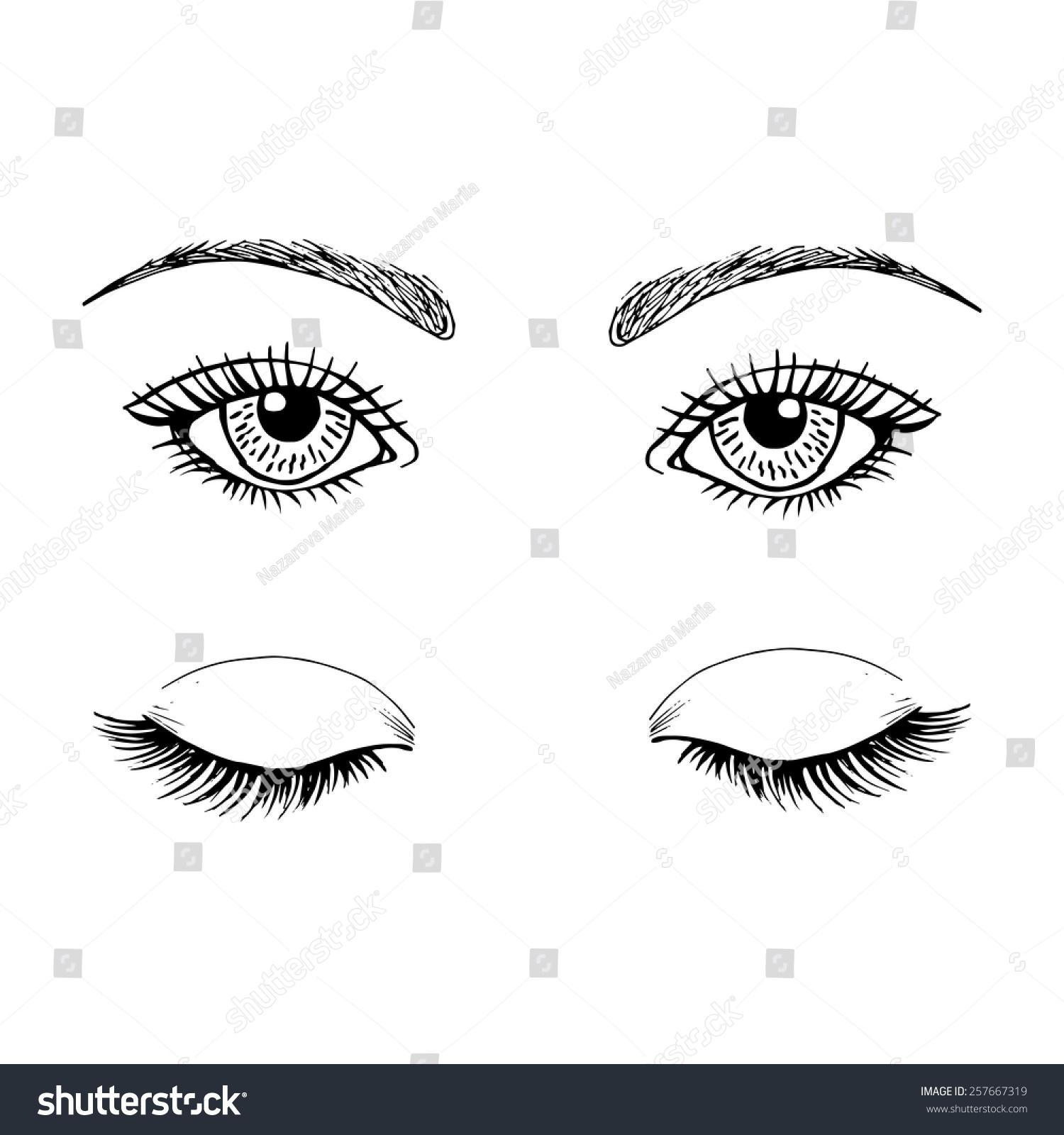 template eyes makeup stock vector 257667319 shutterstock