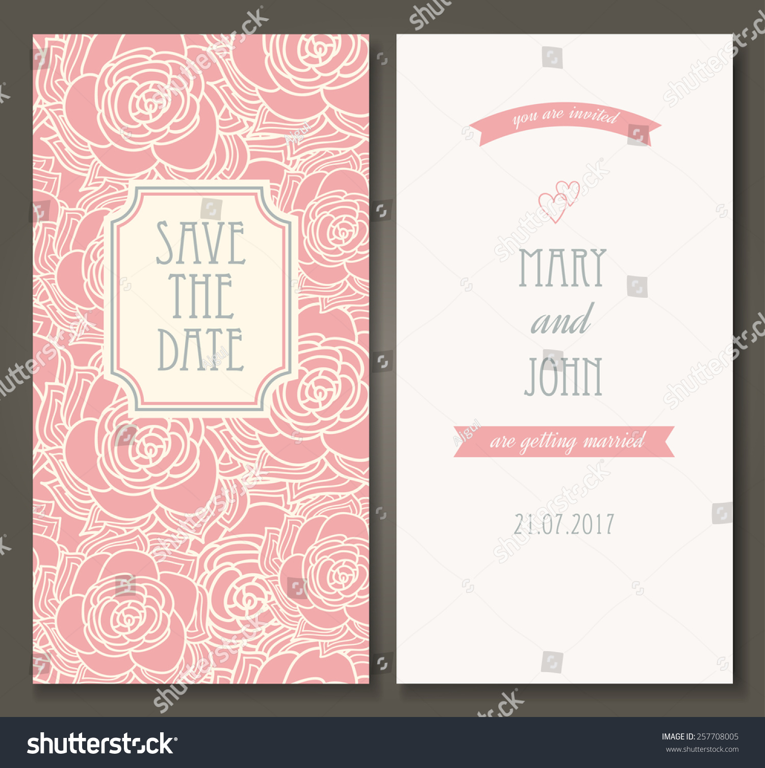 Vintage Vector Card Templates Can Be Stock Vector