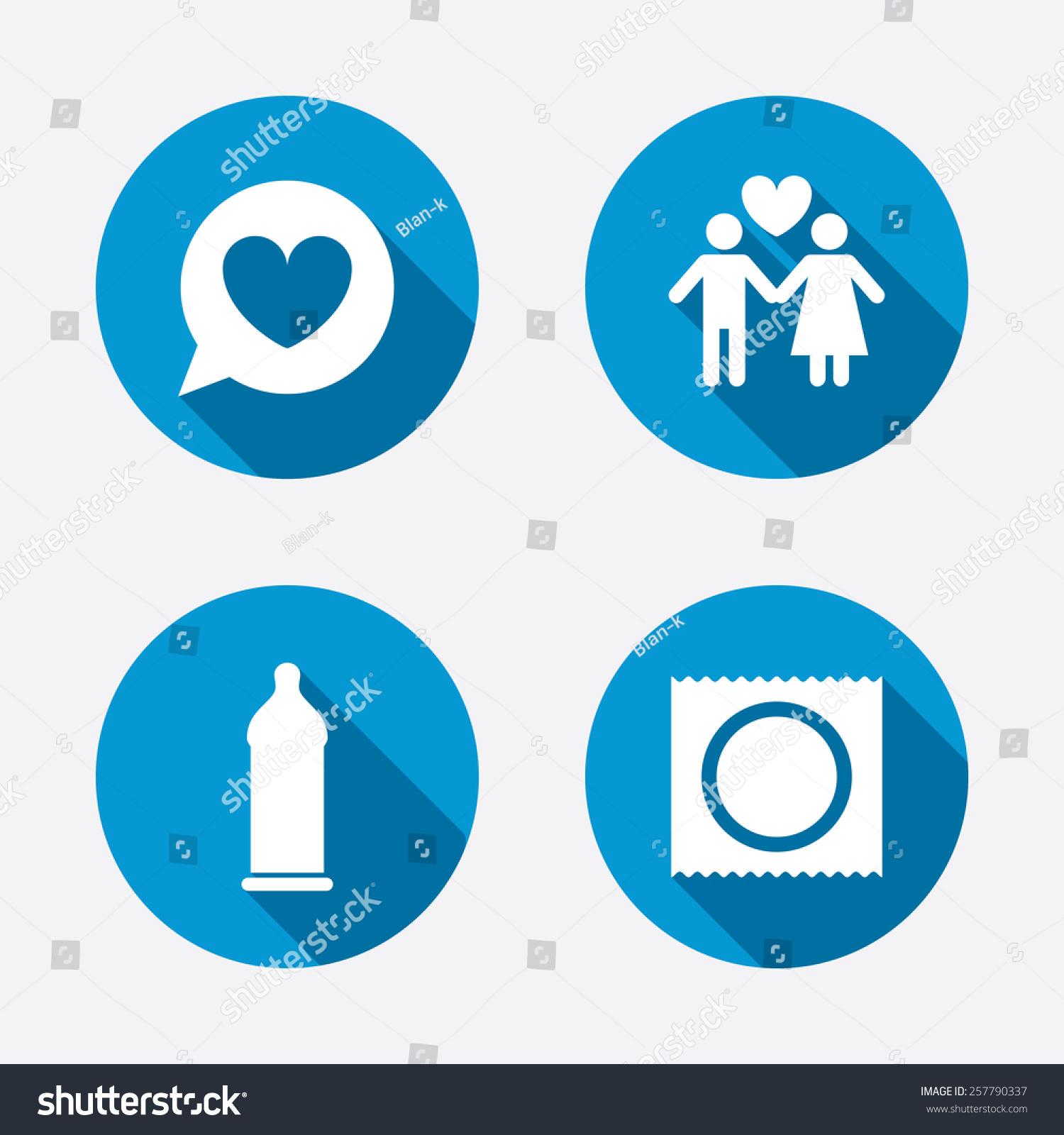Kondom Safe Sex Ikoner Elsker Par Stockvektor 257790337-1604