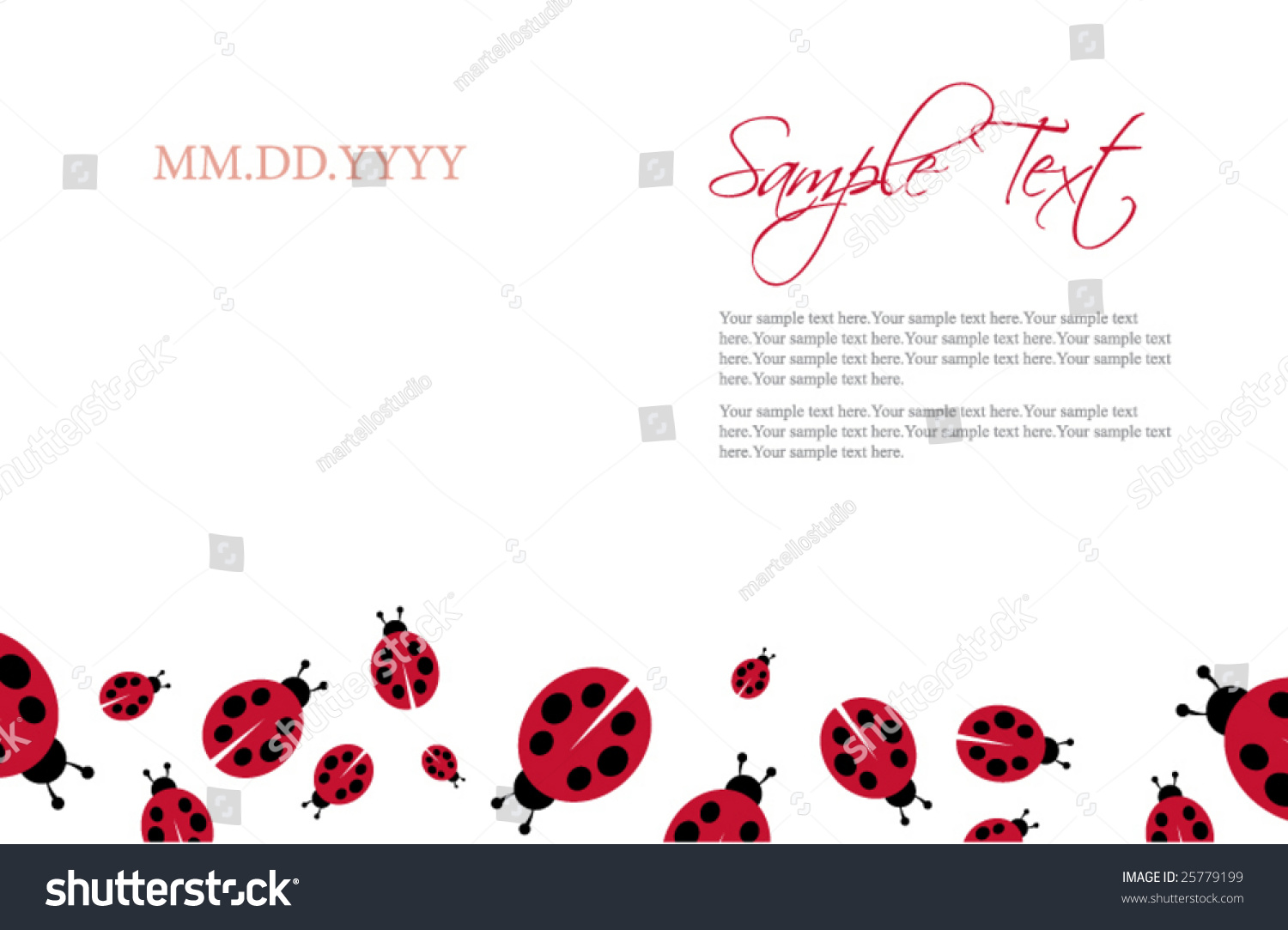 Ladybug invitation template stock vector 25779199 shutterstock ladybug invitation template stopboris Image collections