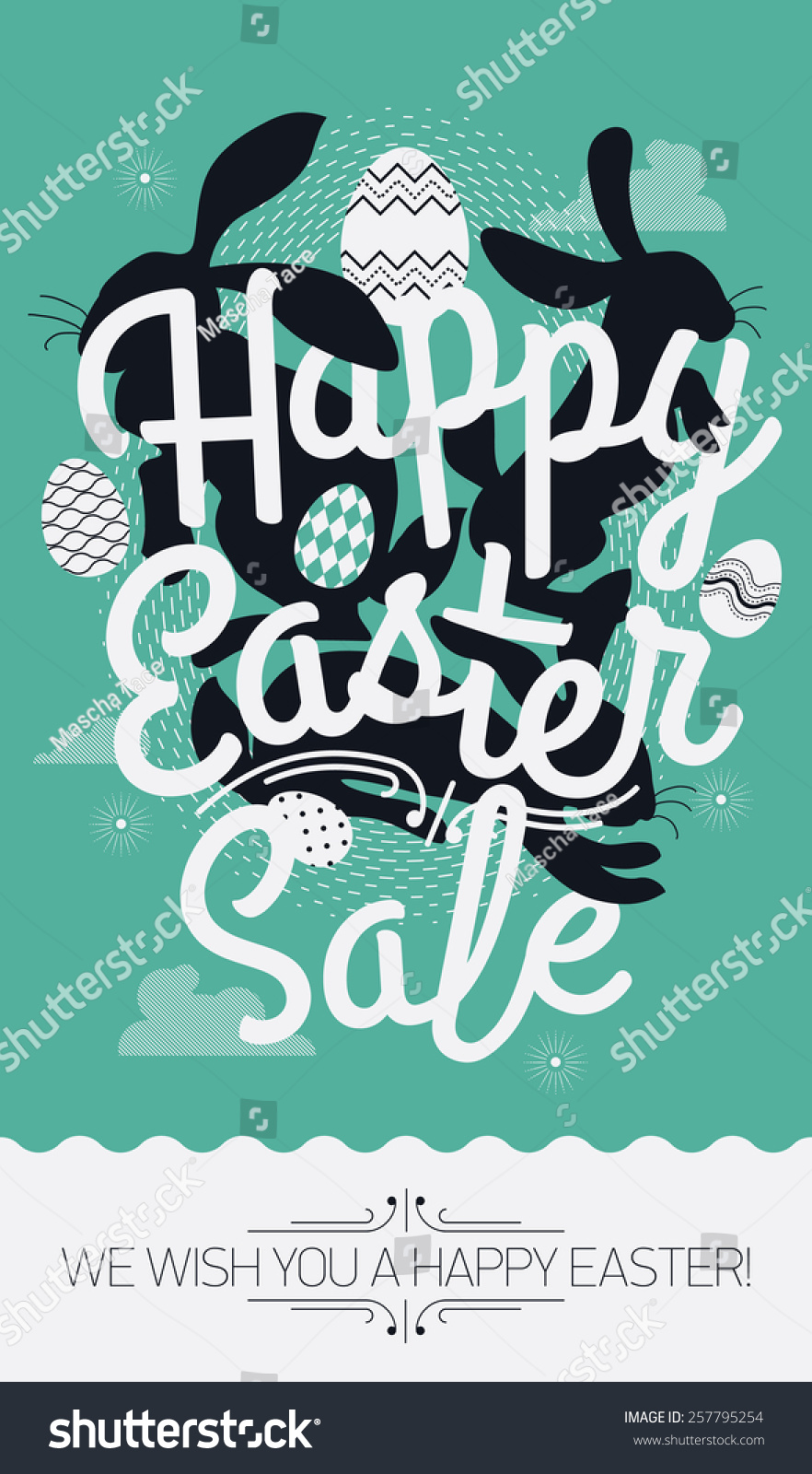 Poster design sample - Cool Vector Concept Printable Poster Or Banner Design On Happy Easter Sale With Sample Text