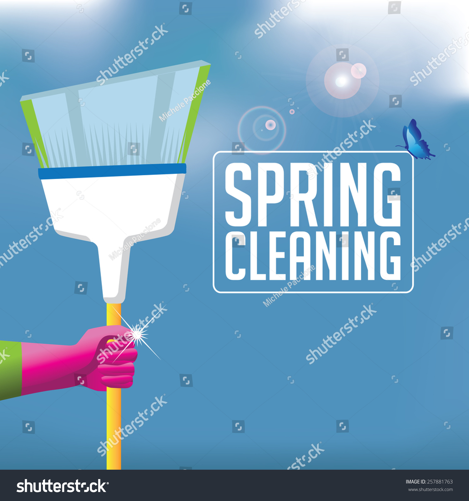 spring cleaning broom background eps stock vektorgrafik spring cleaning broom background eps 10 vector royalty stock illustration for ad promotion