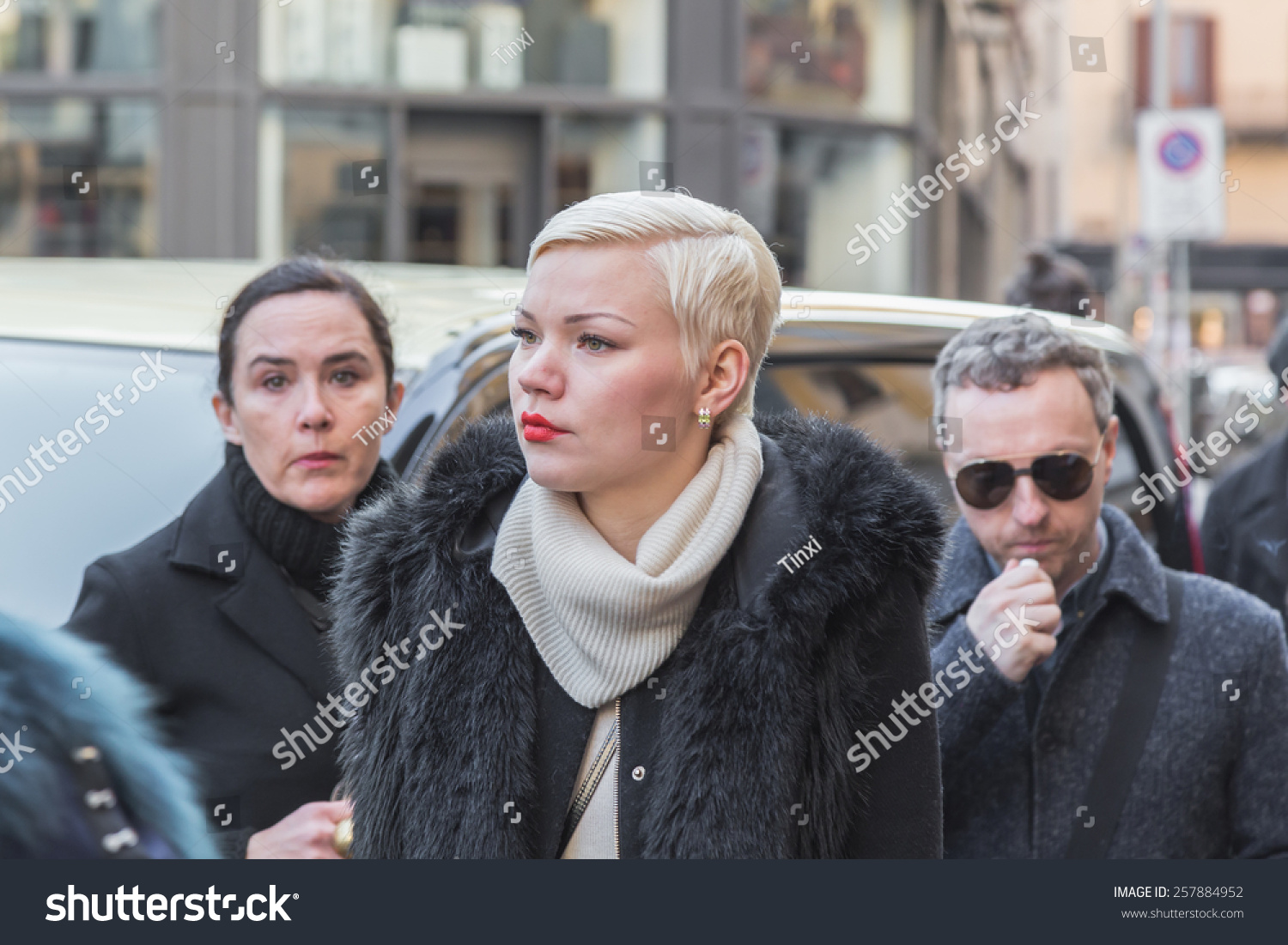 Milan Italy March 2 Young Woman Stock Photo 257884952 ...