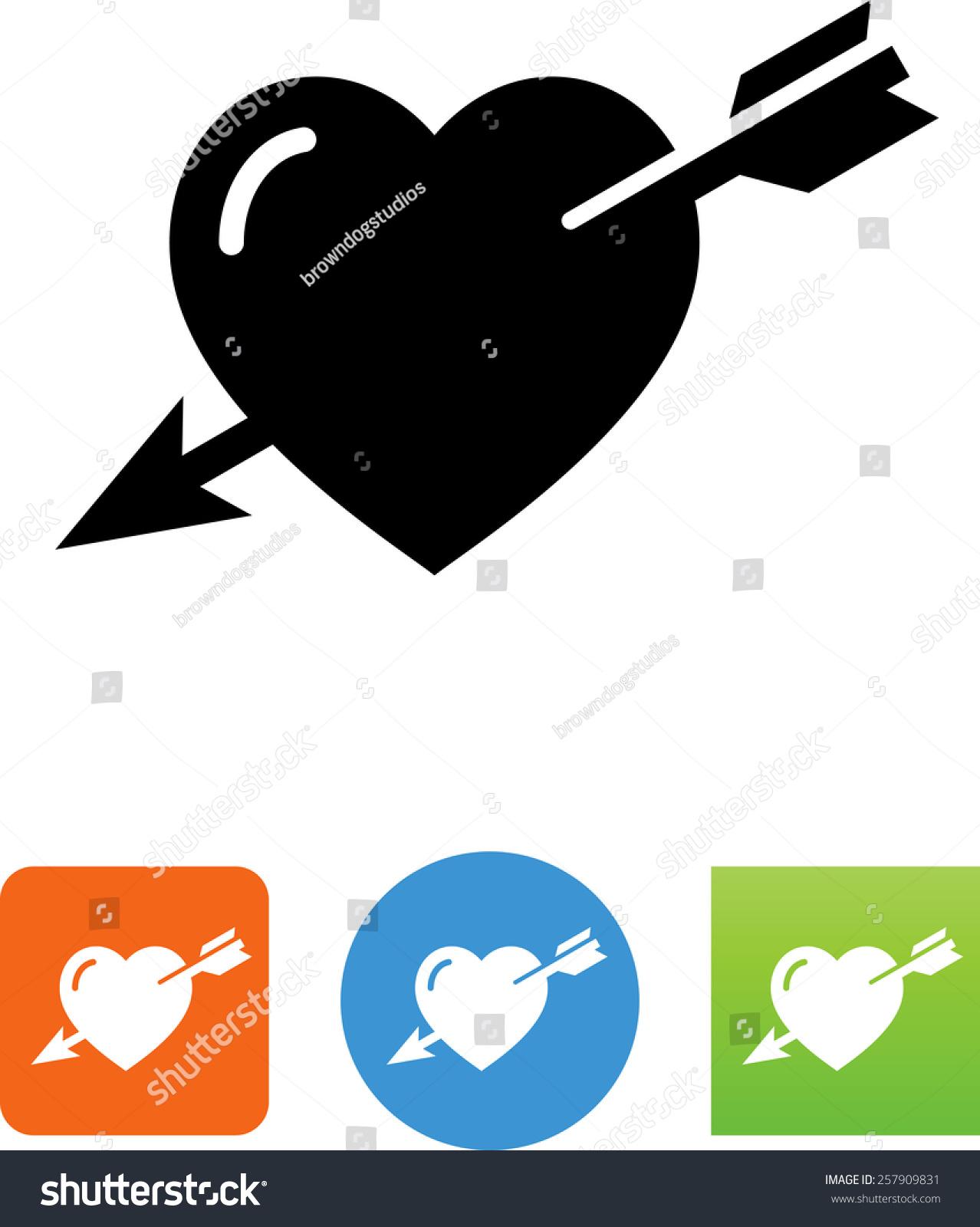 Vector heart arrow