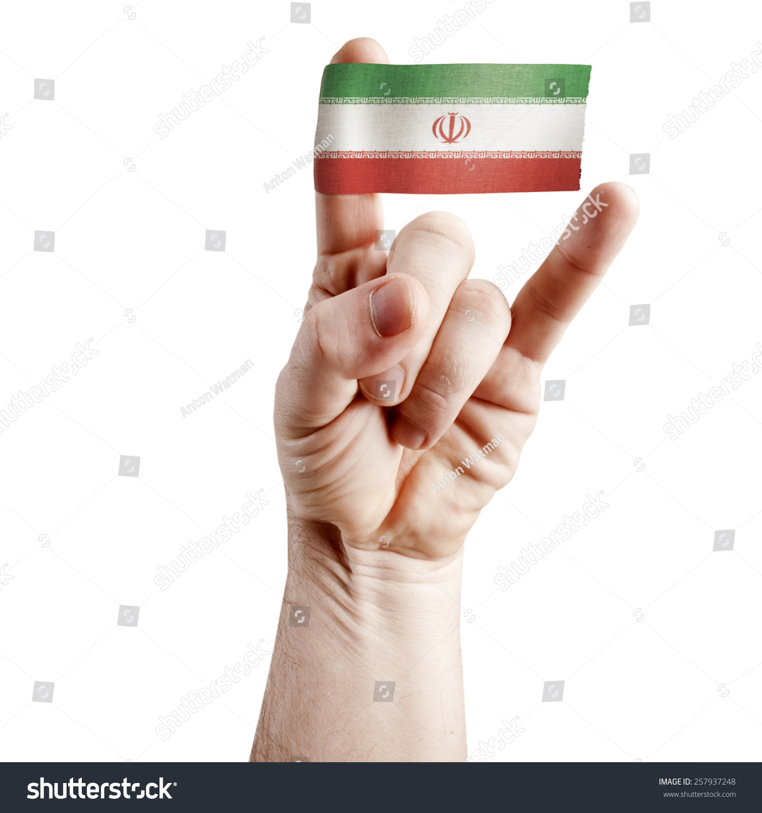 Symbol national coolness rock hand symbol stock photo 257937248 symbol of national coolness rock hand symbol of the horns with the flag of buycottarizona Choice Image