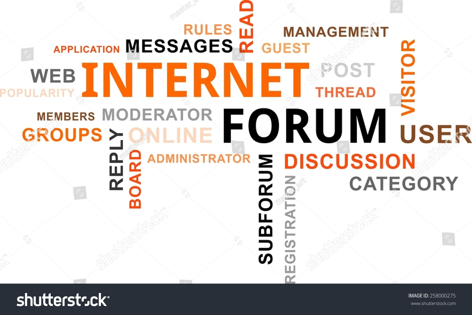 Word Cloud Internet Forum Related Items Stock Vector (Royalty Free