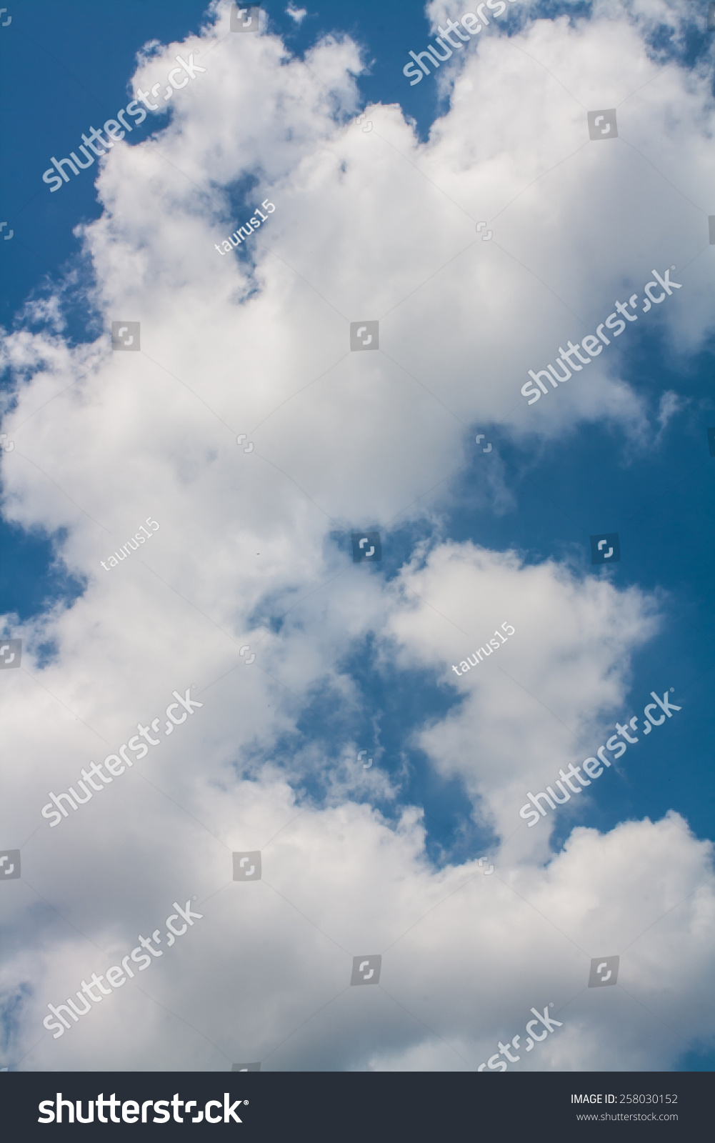 beautiful blue sky white clouds wallpaper stock photo (royalty free