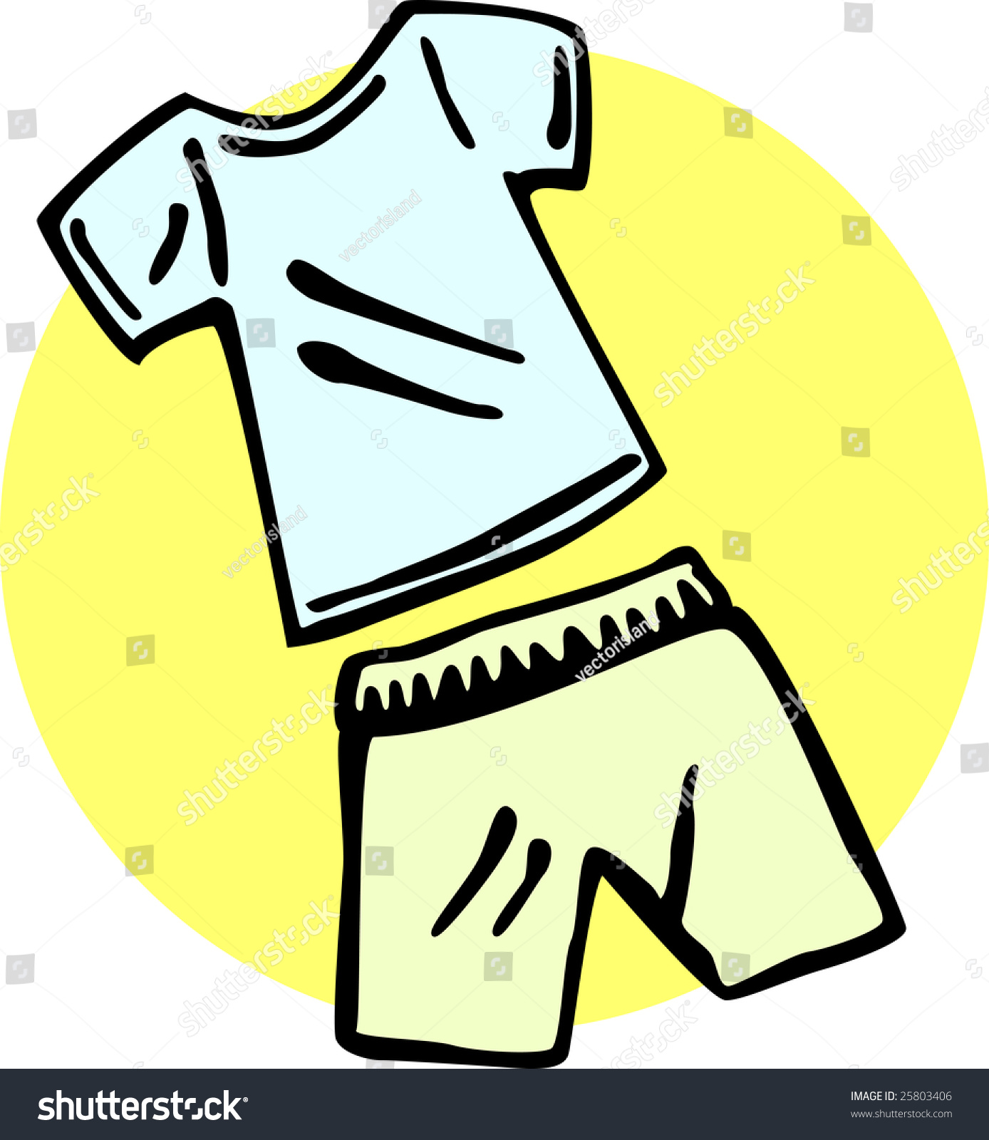 shirt shorts hot weather clothing stock illustration 25803406 rh shutterstock com hot weather clipart images hot weather clothes clipart