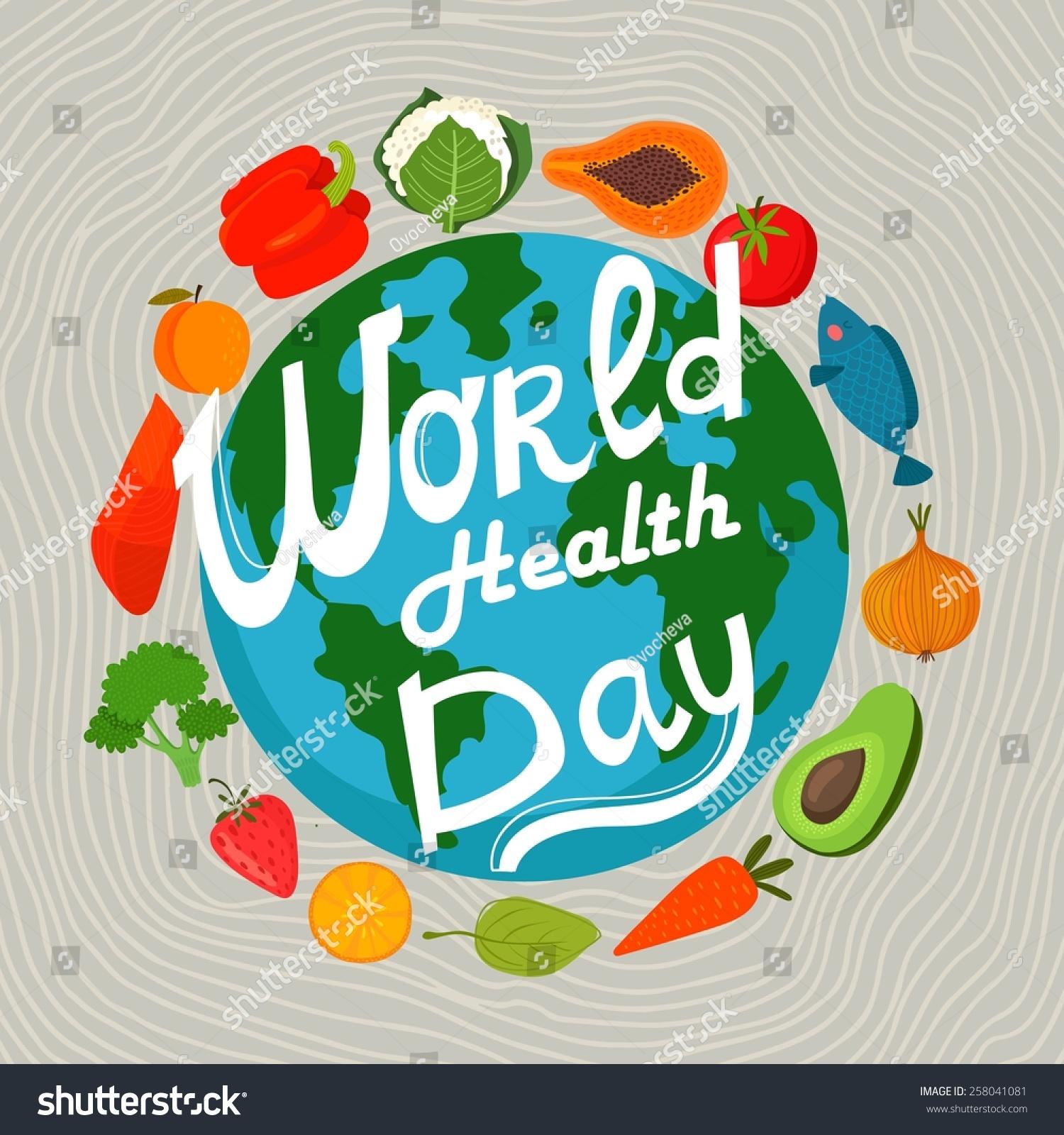 world health day concept earth healthy stock vector
