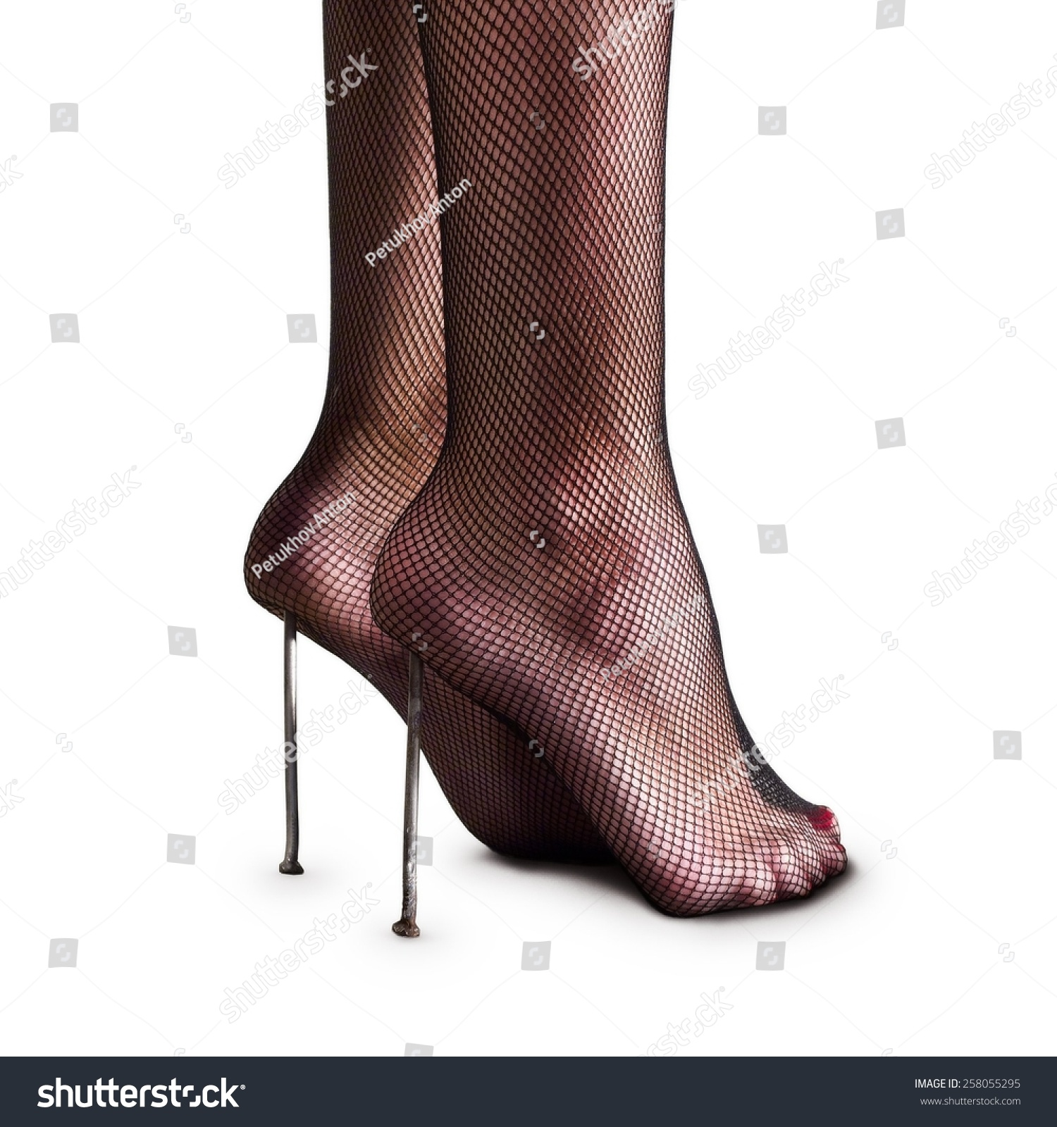 Closeup Two Long Nails Under Heels Stock Photo (100% Legal ...
