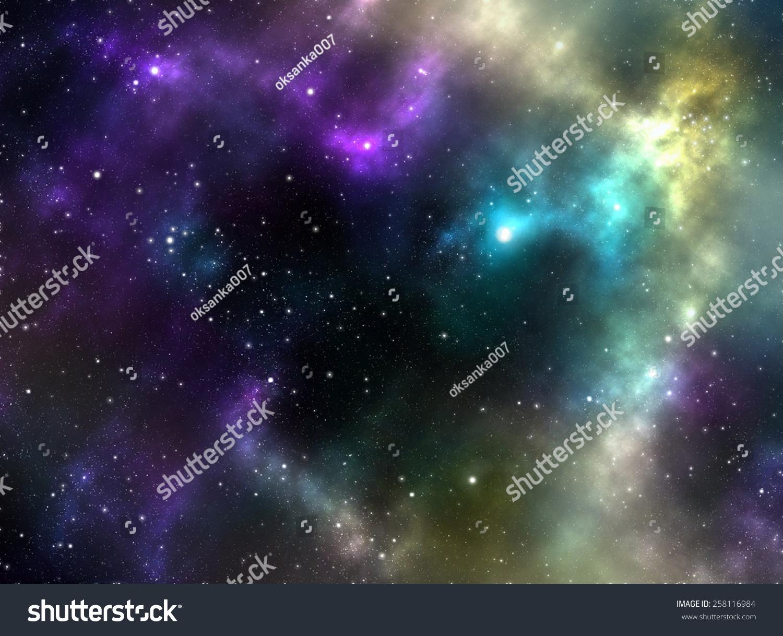 unknown nebula new galaxy stars space stock illustration 258116984