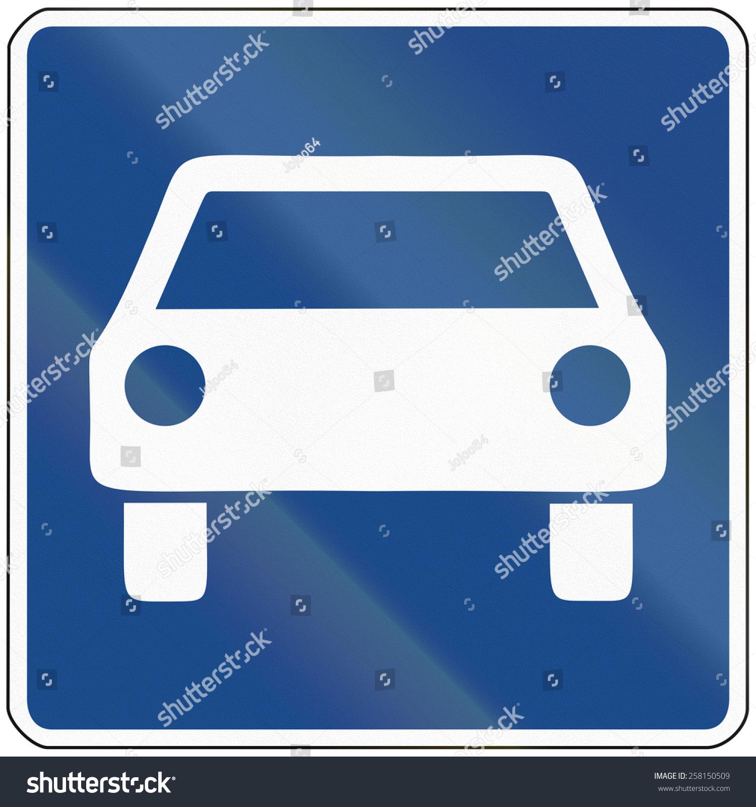 German Traffic Sign Fast Traffic Highway Stock Illustration