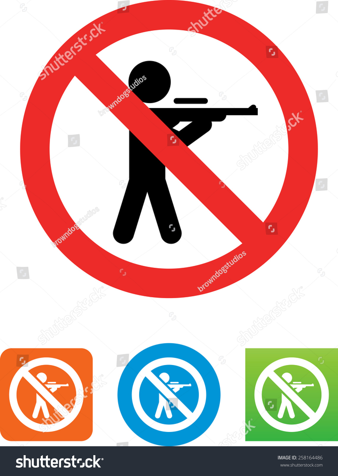 no hunting allowed symbol vector stock vector 258164486 no hunting allowed symbol for vector icons for video mobile apps web