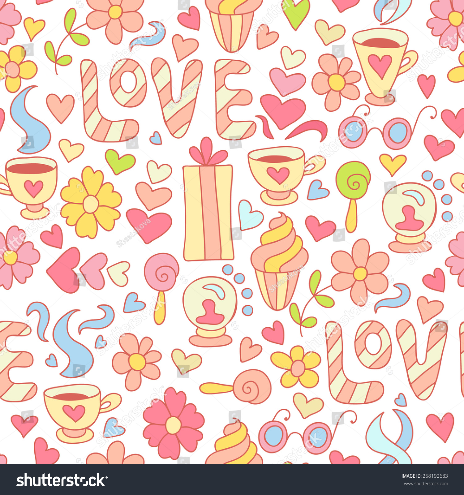 seamless doodle coffee pattern - photo #26