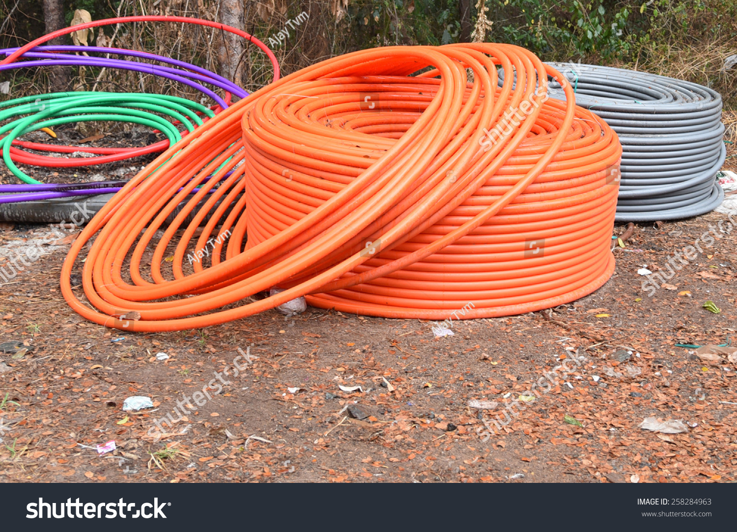 3 G Scam 2 G Underground Telephone Cable Stock Photo (Royalty Free ...
