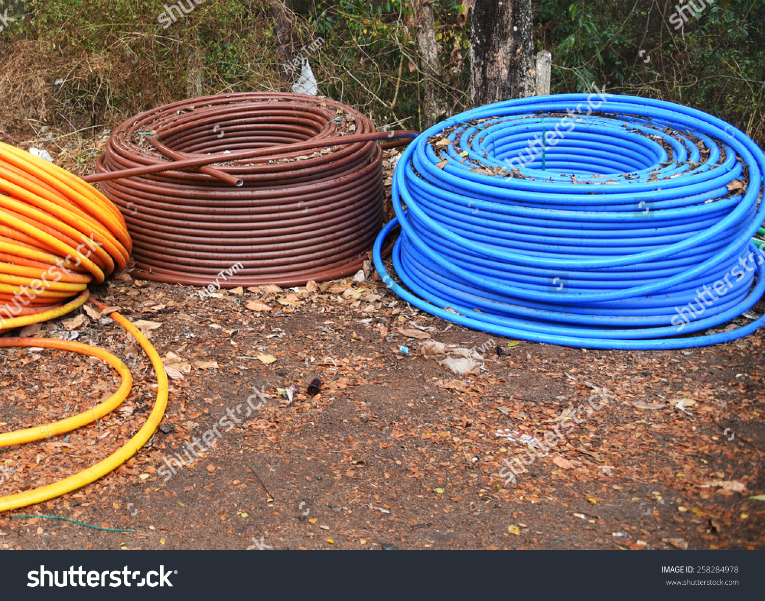 3 G Scam Rolls Underground Telephone Cable Stock Photo (Royalty Free ...