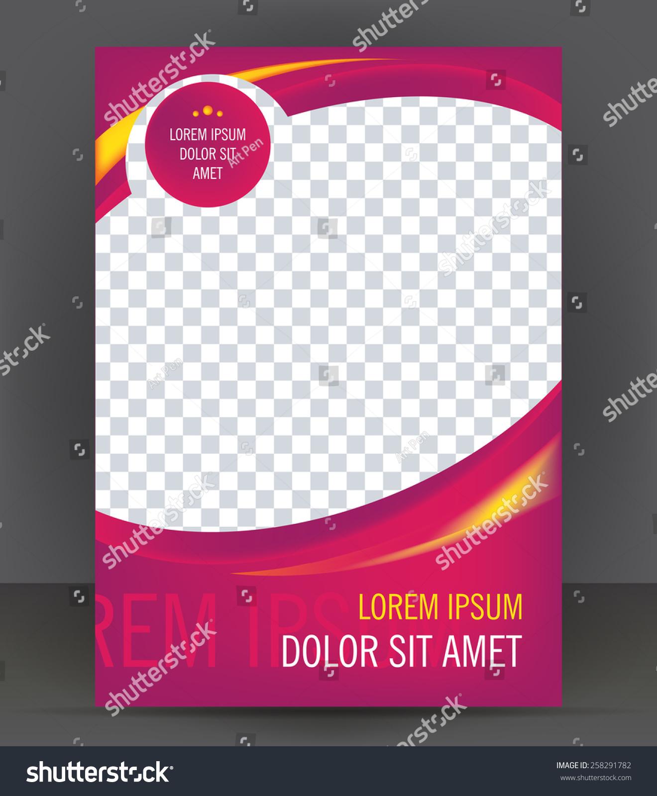 magazine flyer brochure beauty cover layout stock vector  magazine flyer brochure beauty cover layout violet design template vector illustration