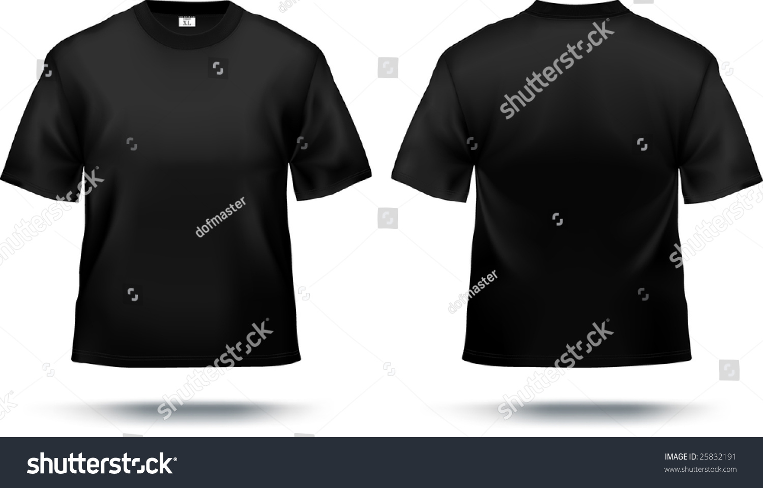 Black t shirt design template - Black T Shirt Design Template Front Back Contains Gradient Mesh Elements